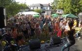 Hula audience participation at Cheltenham Ukulele Festival