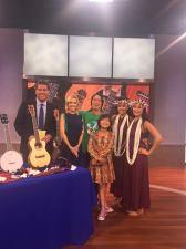KTLA News with Mitch Chang, Lotus Cole, and Loribeth for the LA Ukulele Festival